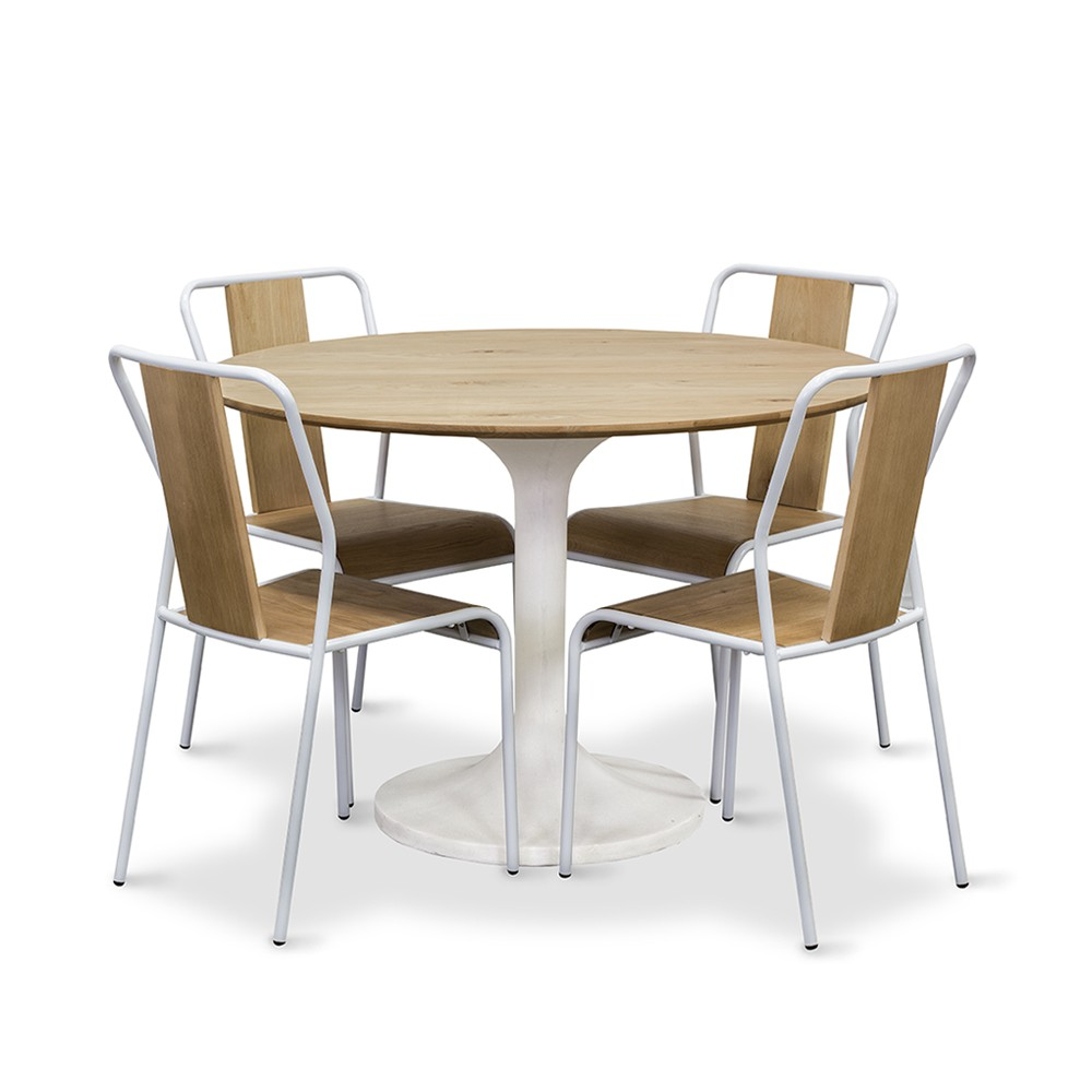 Tulip round dining table living with style for Stylish round dining table