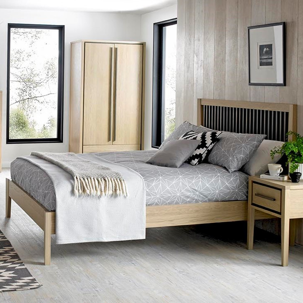 Oak Bed Bedroom Black And White Wall Bedroom Ideas Navy Blue Bedroom Inspiration Bedroom With Cathedral Ceiling: Rimini Flexi Slat Bed