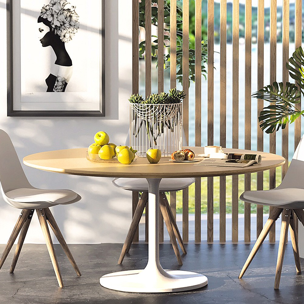 Tulip round dining table living with style for Tulip dining table